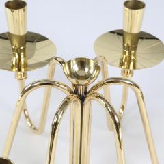 Tommi Parzinger Pair of 1950s Tommi Parzinger Brass Candelabra - 482627