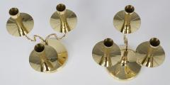 Tommi Parzinger Pair of Solid Brass Candelabra by Tommi Parzinger circa 1950s - 674674
