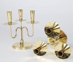 Tommi Parzinger Pair of Solid Brass Candelabra by Tommi Parzinger circa 1950s - 674676