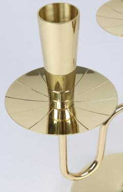 Tommi Parzinger Pair of Solid Brass Candelabra by Tommi Parzinger circa 1950s - 674677