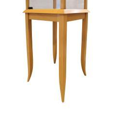 Tommi Parzinger Parzinger Petit Walnut and Glass Display Cabinet 1960s - 1484885