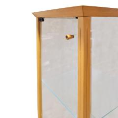 Tommi Parzinger Parzinger Petit Walnut and Glass Display Cabinet 1960s - 1484887