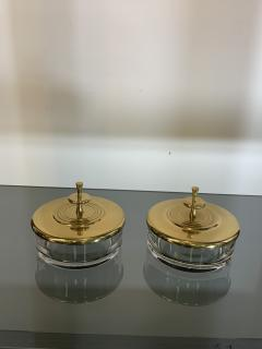 Tommi Parzinger SUITE OF FOUR STUNNING TOMMI PARZINGER BRASS AND GLASS CANNISTERS - 1014218