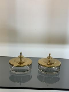 Tommi Parzinger SUITE OF FOUR STUNNING TOMMI PARZINGER BRASS AND GLASS CANNISTERS - 1014219