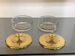 Tommi Parzinger SUITE OF FOUR STUNNING TOMMI PARZINGER BRASS AND GLASS CANNISTERS - 1014220
