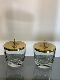 Tommi Parzinger SUITE OF FOUR STUNNING TOMMI PARZINGER BRASS AND GLASS CANNISTERS - 1014221