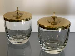 Tommi Parzinger SUITE OF FOUR STUNNING TOMMI PARZINGER BRASS AND GLASS CANNISTERS - 1014225