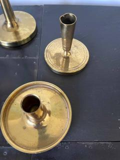 Tommi Parzinger Set of Brass Candelabra and Candlesticks Tommi Parzinger - 1961179