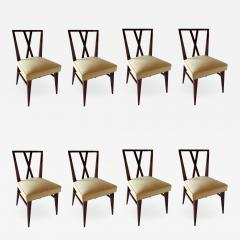 Tommi Parzinger Set of Eight American Modern X back Dining Chairs - 1310365