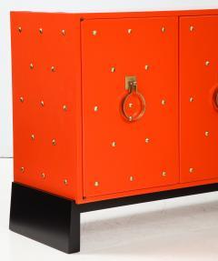 Tommi Parzinger Tommi Parzinger Coral Lacquer Studded Credenza - 990540