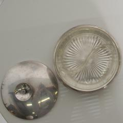 Tommi Parzinger Tommi Parzinger Covered Candy Dish Relish Tray Silver 1950s Midcentury Modern - 1591427