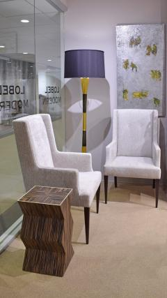 Tommi Parzinger Tommi Parzinger Elegant Pair of Upholstered Arm Chairs 1950s - 2022045
