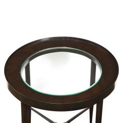Tommi Parzinger Tommi Parzinger Elegant Side Table With Inset Glass Top 1950s - 2076548