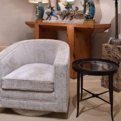 Tommi Parzinger Tommi Parzinger Elegant Side Table With Inset Glass Top 1950s - 2076550