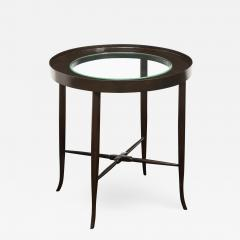 Tommi Parzinger Tommi Parzinger Elegant Side Table With Inset Glass Top 1950s - 2077738