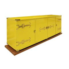 Tommi Parzinger Tommi Parzinger Exquisite Credenza With Iconic Brass Hardware 1950s - 1450177