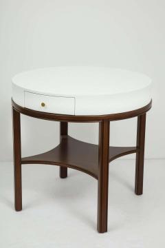 Tommi Parzinger Tommi Parzinger Lacquered Linen Walnut Side Tables - 1756776