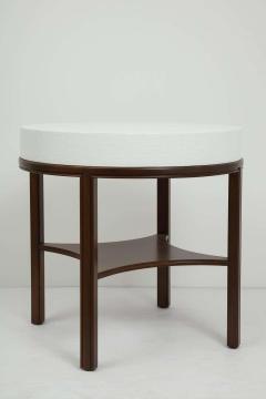 Tommi Parzinger Tommi Parzinger Lacquered Linen Walnut Side Tables - 1756777
