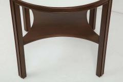Tommi Parzinger Tommi Parzinger Lacquered Linen Walnut Side Tables - 1756778
