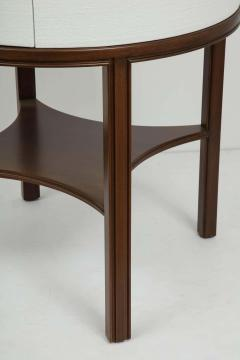 Tommi Parzinger Tommi Parzinger Lacquered Linen Walnut Side Tables - 1756779