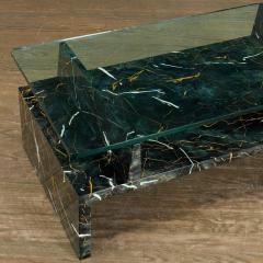 Tommi Parzinger Tommi Parzinger Painted Faux Marble Coffee Table - 1991520