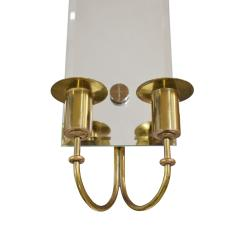 Tommi Parzinger Tommi Parzinger Pair of Mirrored Sconces With Brass Candle Holders 1950s - 1187768