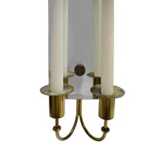 Tommi Parzinger Tommi Parzinger Pair of Mirrored Sconces With Brass Candle Holders 1950s - 1187769