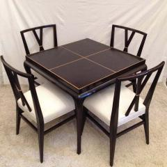 Tommi Parzinger Tommi Parzinger Rare Table and Four X Chairs - 1823807
