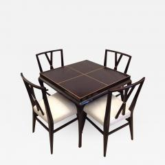 Tommi Parzinger Tommi Parzinger Rare Table and Four X Chairs - 1825691