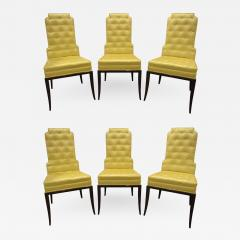Tommi Parzinger Tommi Parzinger Set of 6 Dining Chairs With Tufted Backs 1950s - 1326021