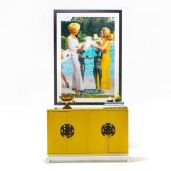 Tommi Parzinger Tommi Parzinger Style Hollywood Regency Yellow White Cabinet or Console - 2134789