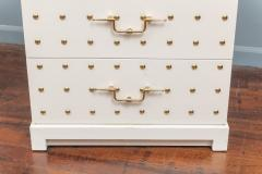 Tommi Parzinger Tommi Parzinger Two Drawer Studded Dressers - 1977269