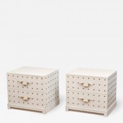 Tommi Parzinger Tommi Parzinger Two Drawer Studded Dressers - 1982094