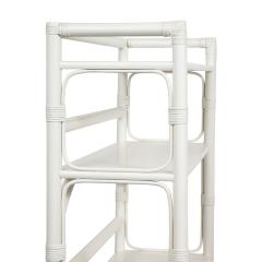Tommi Parzinger Tommi Parzinger White Lacquered Etagere With Brass Pulls 1950s - 2017528