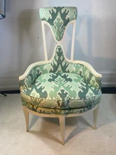 Tommi Parzinger UNUSUAL HOLLYWOOD REGENCY CHAIR IN THE MANNER OF TOMMI PARZINGER - 1851493