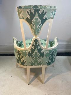 Tommi Parzinger UNUSUAL HOLLYWOOD REGENCY CHAIR IN THE MANNER OF TOMMI PARZINGER - 1851495