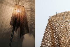 Toni Cordero di Montezemolo Artemide Chain Mail Table Lamp Anchise by Toni Cordero 1980s - 1006525