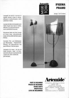 Toni Cordero di Montezemolo Priamo Floor Lamp by Toni Cordero for Artemide Italy 1990 - 1076493