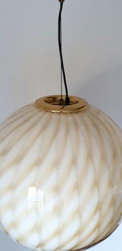Toni Zuccheri Large Mid Century Modern Murano glass ceiling globe Toni Zuccheri for Venini - 1196848