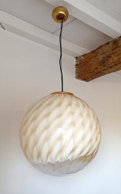 Toni Zuccheri Large Mid Century Modern Murano glass ceiling globe Toni Zuccheri for Venini - 1196853