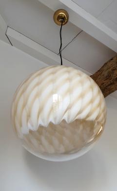 Toni Zuccheri Large Mid Century Modern Murano glass ceiling globe Toni Zuccheri for Venini - 1196854