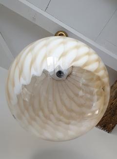 Toni Zuccheri Large Mid Century Modern Murano glass ceiling globe Toni Zuccheri for Venini - 1196855