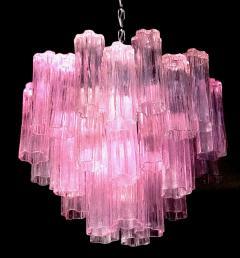 Toni Zuccheri Three Pink Tronchi Murano Glass Chandelier by Toni Zuccheri for Venini 1970s - 1679290