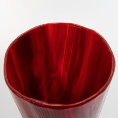 Toni Zuccheri Venini Murano Vase by Toni Zuccheri from the Tronchi Series Red Blown Glass - 1005316