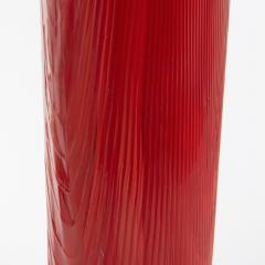 Toni Zuccheri Venini Murano Vase by Toni Zuccheri from the Tronchi Series Red Blown Glass - 1005318