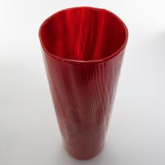 Toni Zuccheri Venini Murano Vase by Toni Zuccheri from the Tronchi Series Red Blown Glass - 1005320