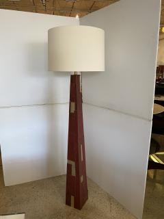 Tony Berlant American Modern Sculptural Steel and Enameled Floor Lamp Tony Berlant - 1899054