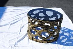 Tony Duquette Gold Ribbon Coffee Table in the style of Tony Duquette - 1051430