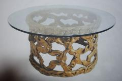Tony Duquette Gold Ribbon Coffee Table in the style of Tony Duquette - 1051431