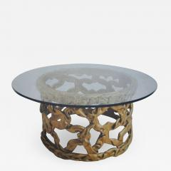 Tony Duquette Gold Ribbon Coffee Table in the style of Tony Duquette - 1051863